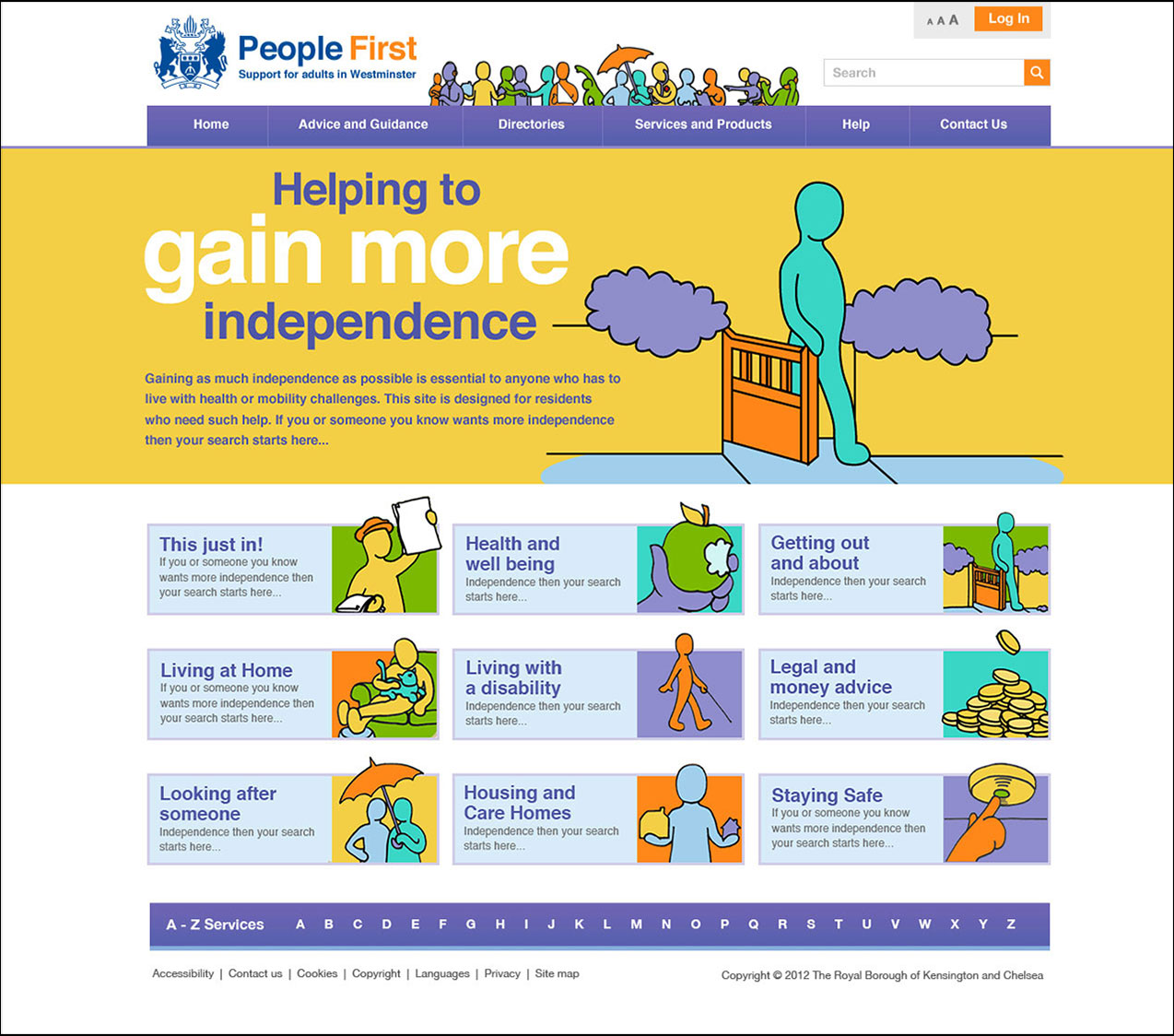 People First opening webpage