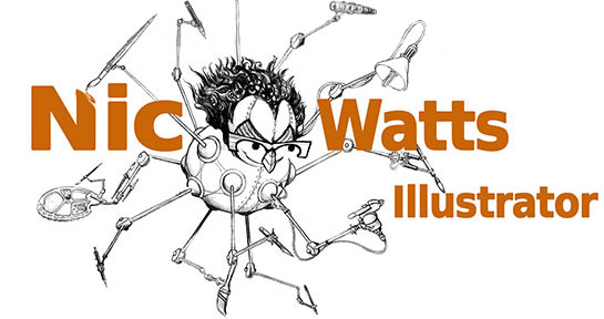 Nic Watts Illustrator Logo